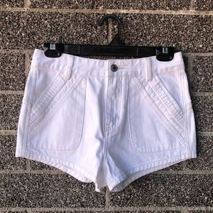 New Free People white jean shorts size 26